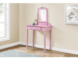 Monarch Vanity with Storage Drawer in Pink I3328
