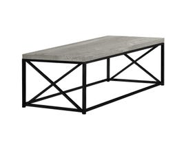 Monarch Coffee Table - Grey Reclaimed Wood-Look Black Metal I3417