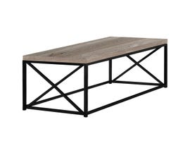 Monarch COFFEE TABLE - TAUPE RECLAIMED WOOD-LOOK / BLACK METAL I3418