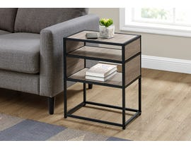 Monarch Metal Accent Table in Dark Taupe I3507