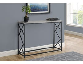 Monarch Metal Hall Console Accent Table in Grey I3532
