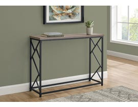 Monarch Metal Hall Console Accent Table in Taupe I3533