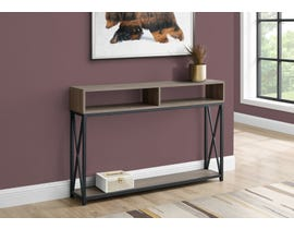 Monarch Metal Hall Console Accent Table in Taupe I3573