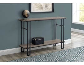 Monarch Metal Hall Console Accent Table in Taupe I3577