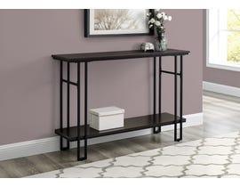 Monarch Metal Hall Console Accent Table in Espresso I3578