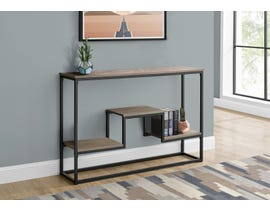 Monarch Metal Hall Console Accent Table in Taupe I3581