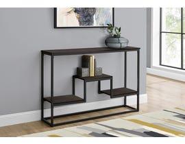 Monarch Metal Hall Console Accent Table in Espresso I3582