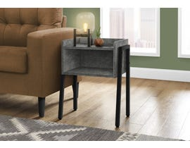 Monarch Metal Accent Table Grey Stone-look in Black I3584