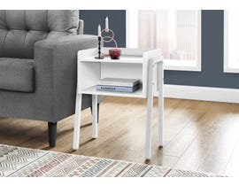 Monarch Metal Accent Table in White I3594