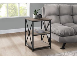 Monarch Metal Accent Table in Dark Taupe I3597