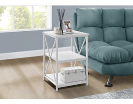 Monarch Metal Accent Table in White I3599