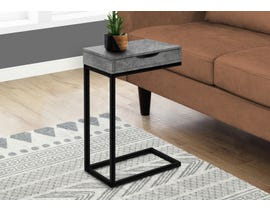 Monarch Metal Grey Stone-look Accent Table in Black I3603