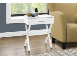 Monarch Metal Accent Table in White I3606