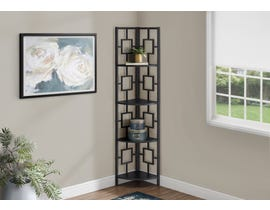 Monarch Metal Corner Etagere Bookcase in Black I3610
