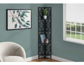 Monarch Metal Corner Etagere Bookcase in Black I3620