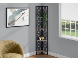 Monarch Metal Corner Etagere Bookcase in Dark Taupe I3621