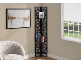 Monarch Metal Corner Etagere Bookcase in Espresso I3622