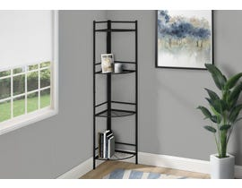 Monarch Metal Corner Etagere Bookcase in Black I3625