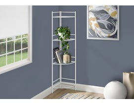Monarch Metal Corner Etagere Bookcase in White I3626
