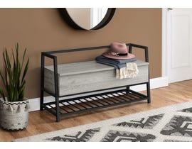 Monarch Metal Storage Bench in Grey I4500