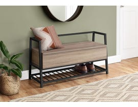 Monarch Metal Storage Bench in Dark Taupe I4501