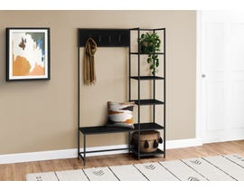Monarch Metal Hall Entry Bench in Black I4510