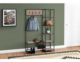 Monarch Metal Hall Entry Bench in Dark Taupe I4511