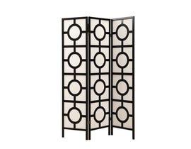 "Monarch 3 panel / black frame"" circle design "" Folding Screen I4619"