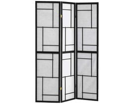 "Monarch 3 panel / black frame"" circle design "" Folding Screen I4627"