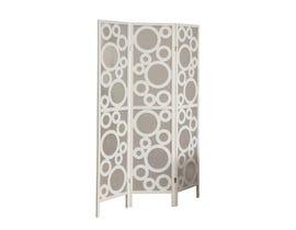 "Monarch 3 panel / white frame "" bubble design "" Folding Screen I4635"