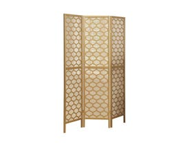 "Monarch 3 panel / gold frame "" lantern design "" Folding Screen I4638"