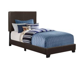 Monarch twin size / dark brown leather look Bed I5910T