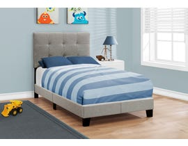 MONARCH Bed - TWIN SIZE / GREY LINEN