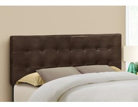 Monarch Leather-look Headboard in Brown I6000