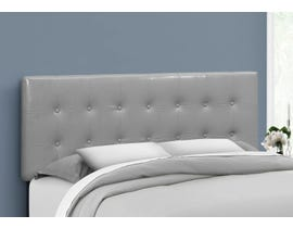 Monarch Leather-look Headboard in Grey I6001