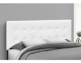 Monarch Leather-look Headboard in White I6002