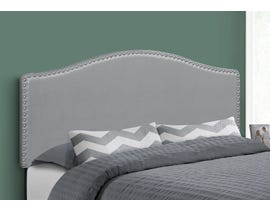 Monarch Leather-look Headboard in Grey I6011