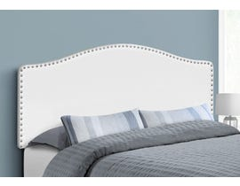 Monarch Leather-look Headboard in White I6012