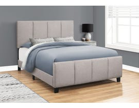 Monarch Linen Upholstered Queen Bed in Grey I6025Q