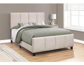 Monarch Linen Upholstered Queen Bed in Beige I6026Q