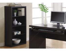 "Monarch BOOKCASE  48""H CAPPUCCINO WITH ADJUSTABLE SHELVES I 7005"