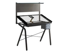 Monarch DRAFTING TABLE - ADJUSTABLE / GREY METAL / TEMPERED GLASS I7034