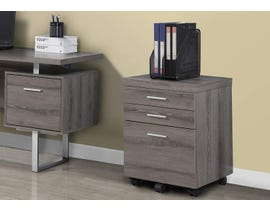 Monarch FILING CABINET  3 DRAWER DARK TAUPE ON CASTORS I 7049