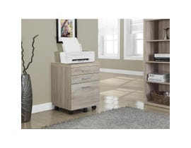 Monarch FILING CABINET  3 DRAWER NATURAL ON CASTORS I 7050