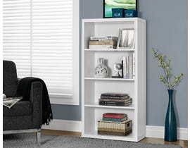 "Monarch Bookcase 48""H White With Adjustable Shelves I7059"