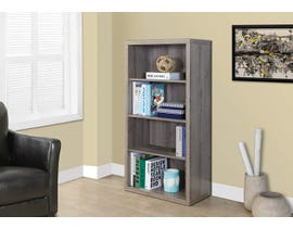 """Monarch Bookcase 48""""H Dark Taupe With Adjustable Sheleves I7060"""