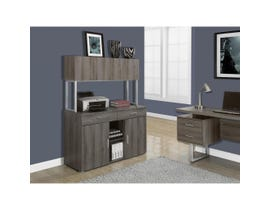 "Monarch Office Cabinet 48""L Dark Taupe Storage Credenza I7067"