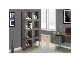 "Monarch BOOKCASE  71""H DARK TAUPE I 7078"