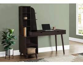 Monarch Computer Desk with Bookcase in Espresso I7096