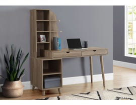 Monarch Computer Desk with Bookcase in Dark Taupe I7097